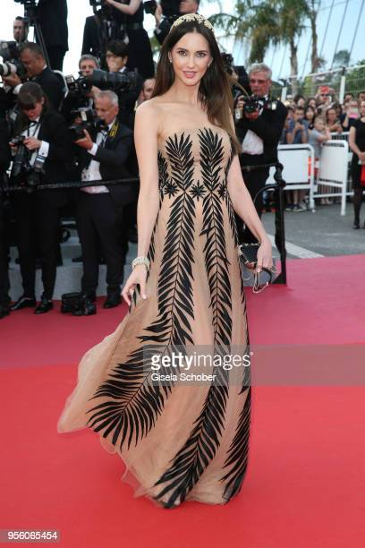 Frederique Bel attends the screening of 'Everybody Knows ' and the opening gala during the 71st annual Cannes Film Festival at Palais des Festivals...