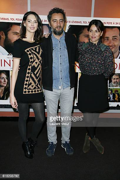 Frederique Bel Nader Boussandel and Anne Charrier attend the 'l'Invitation' Paris Premiere at UGC George V on October 17 2016 in Paris France