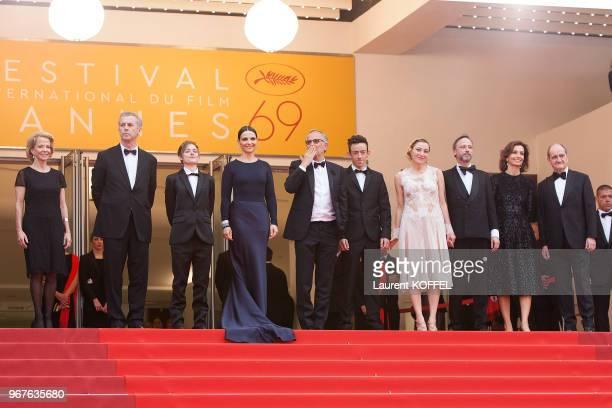 Frederique Bredin, Bruno Dumont, actors Raph, Juliette Binoche, Fabrice Luchini, Brandon Lavieville, Valeria Bruni Tedeschi, Jean-Luc Vincent,...