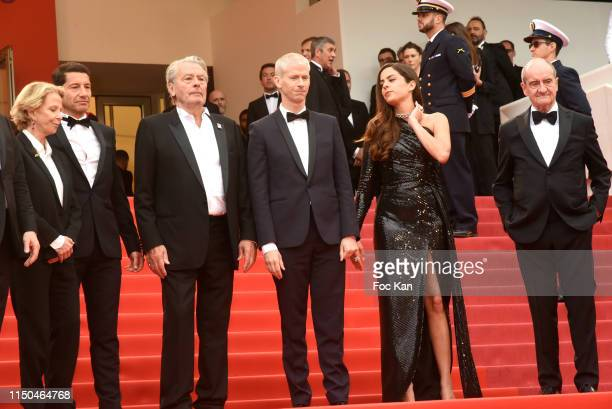 Frederique Bredin from CNC David Lisnard Alain Delon Minister Franck Riester Anouchka Delon and Pierre Lescure attend the screening of A Hidden Life...