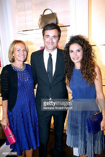 Frederique Fetiveau, Brice Penaranda and actress Barbara Cabrita attends the 'Vogue Fashion Night Out 2014' at Dior, Rue Royale in Paris on September...