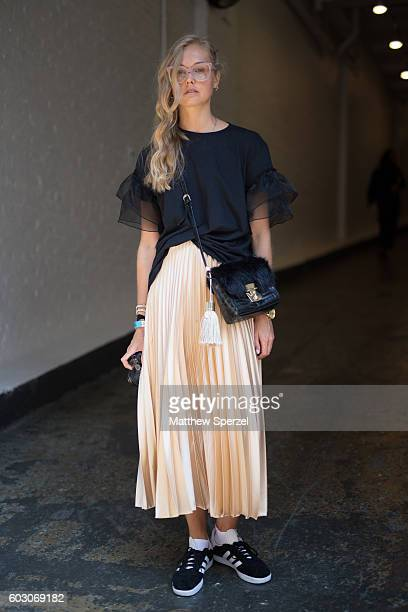 Frederique is seen attending Tibi during New York Fashion Week on September 10 2016 in New York City