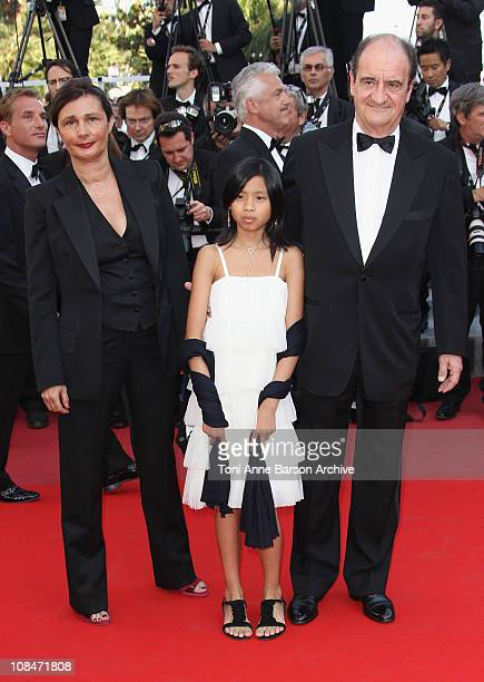 Frederique Lescure and Pierre Lescure with their daughter Anna attend 'The Tree' Premiere held at the Palais des Festivals during the 63rd Annual...