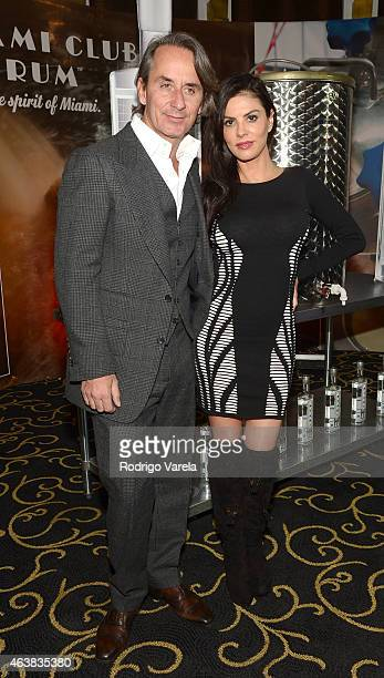 Frederique MArz and Adriana De Moura attend the Miami Club Rum Official Partnership Launch with William Levy at Ritz Carlton South Beach on February...