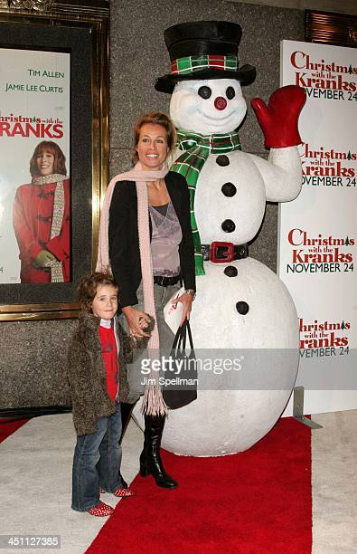 Frederique Van Der Wal and daughter during Christmas with The Kranks New York City Premiere Outside Arrivals at Radio City Music Hall in New York...