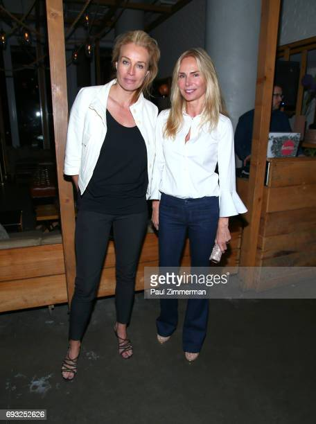 """Frederique Van Der Wal and Valesca Guerrand-Hermes attend the Gucci & The Cinema Society after party of Roadside Attractions' """"Beatriz At Dinner"""" at..."""