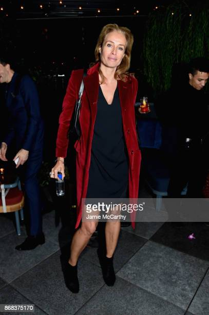 Frederique Van Der Wal attends The Cinema Society's Screening Of Marvel Studios' Thor Ragnarok at Magic Hour Rooftop Bar Lounge on October 30 2017 in...