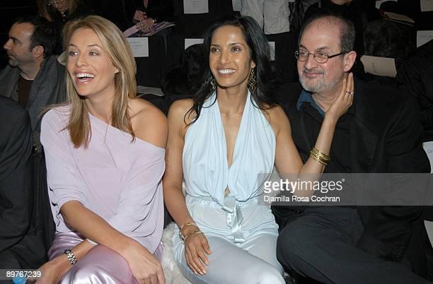 Frederique van der Wal Padma Lakshmi and Salman Rushdie