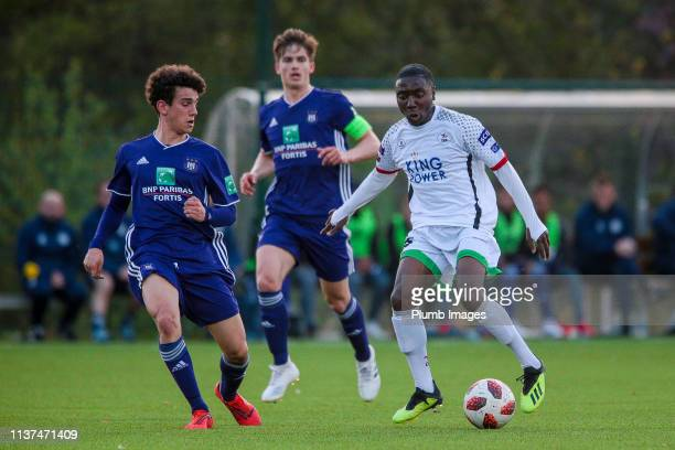 Fred-Fidele Irakoze of OH Leuven during the Reserve Pro League Cup match between OH Leuven Beloften and RSC Anderlecht Reserve at the Neerpede...