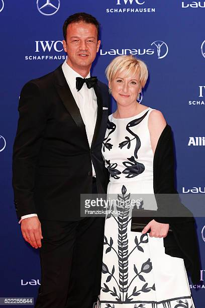 Fredi Bobic and Britta Bobic attend the Laureus World Sports Awards 2016 at the Messe Berlin on April 18 2016 in Berlin Germany