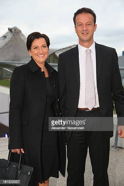 Fredi Bobic arrives with Britta Bobic at the red carpet prior the Laureus Sport for Good Night 2013 at Munich Olympiahalle on September 20 2013 in...