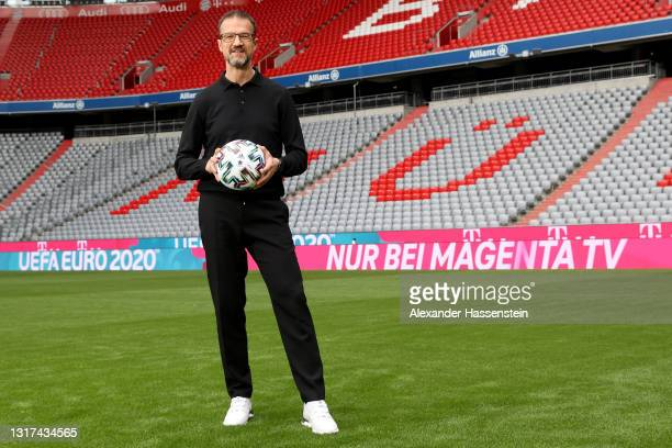 Fredi Bobic is seen on the pitch during the the Magenta TV EURO 2020 Media Day at Allianz Arena on May 11, 2021 in Munich, Germany.