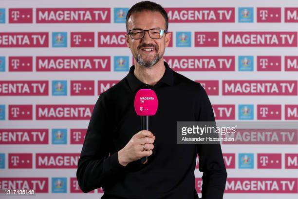 Fredi Bobic poses during the the Magenta TV EURO 2020 Media Day at Allianz Arena on May 11, 2021 in Munich, Germany.