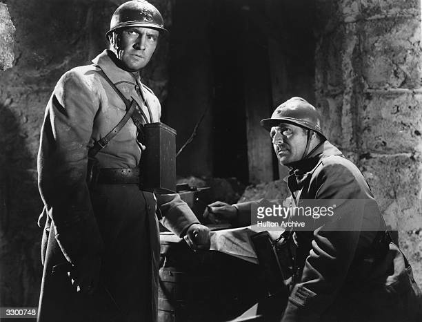 Fredric March and Warner Baxter feature in the film 'Road To Glory' which tells the adventures of a French regiment during World War I It was...