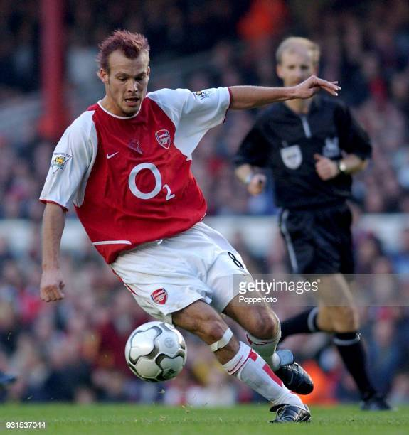 Fredrick Ljungberg of Arsenal in action during the FA Barclaycard Premiership match between Arsenal and Tottenham Hotspur at Highbury in London on...