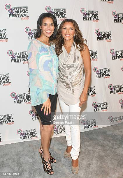 Fredricka Whitfield and Vanessa Williams attends the 2012 Essence Music Festival at Louisiana Superdome on July 6 2012 in New Orleans Louisiana