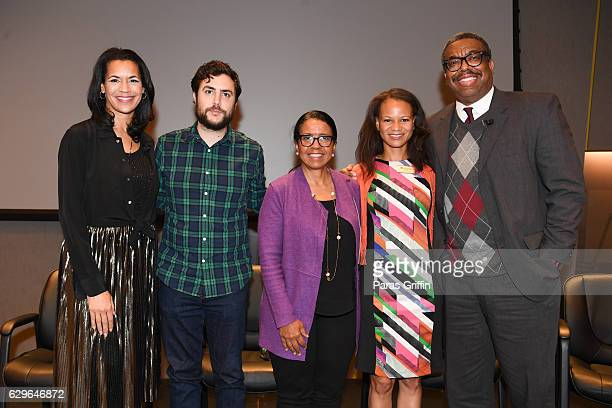 Fredricka Whitfield Cameron McAllister Andrea Young Adrienne White and Ernie Suggs attend Loving Private Screening Conversation at National Center...