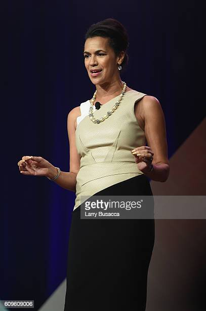 Fredricka Whitfield speaks onstage at the 33rd Annual Kaitz Foundation Fundraising Dinner at Marriott Marquis Hotel on September 21 2016 in New York...