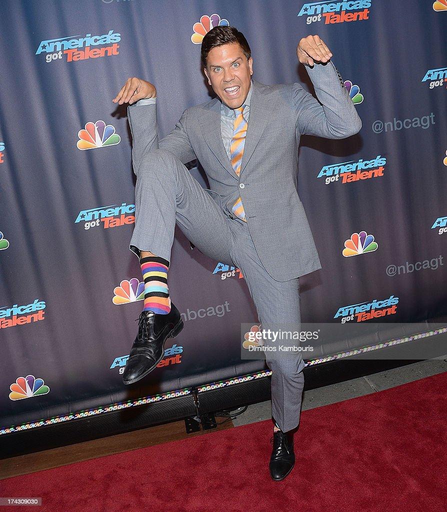 Fredrik Eklund attends 'Americas Got Talent' Season 8 Pre-Show Red Carpet Event on July 23, 2013 in New York, United States.
