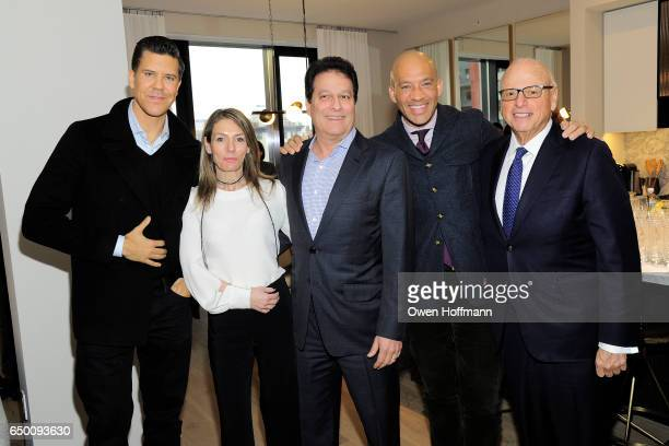 Fredrik Eklund Dina Lewis Ziel Feldman John Gomes and Howard Lorber attend 11 Beach Model Residence Unveiling Event at 11 Beach Street on March 7...