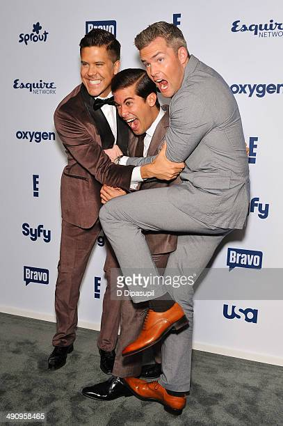 Fredrik Eklund Luis D Ortiz and Ryan Serhant attend the 2014 NBCUniversal Cable Entertainment Upfronts at The Jacob K Javits Convention Center on May...