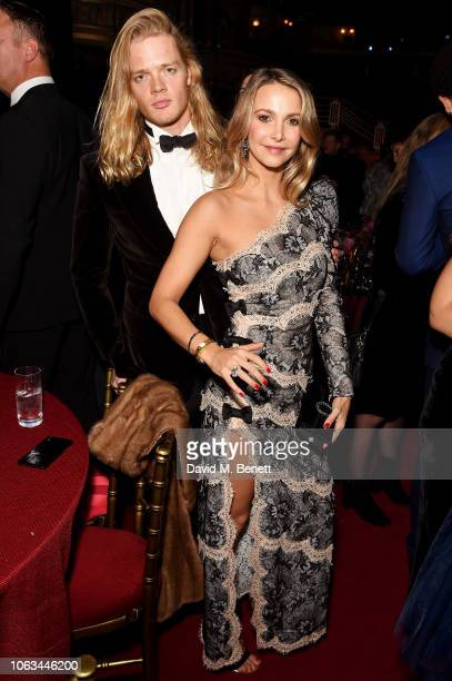 Fredrik Ferrier and Sophie Hermann attend The 64th Evening Standard Theatre Awards after party at the Theatre Royal Drury Lane on November 18 2018 in...