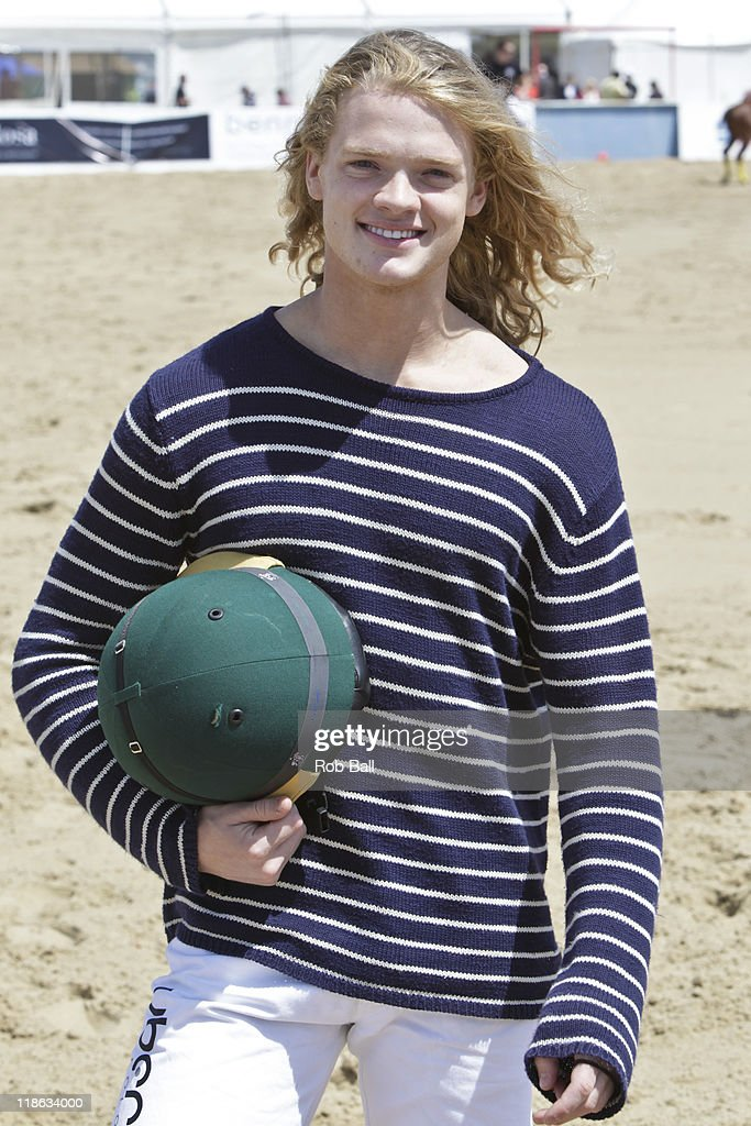 Fredrik Ferrier from Made in Chelsea attends the British Beach Polo Championships at Sandbanks Beach on July 9, 2011 in Poole, England.