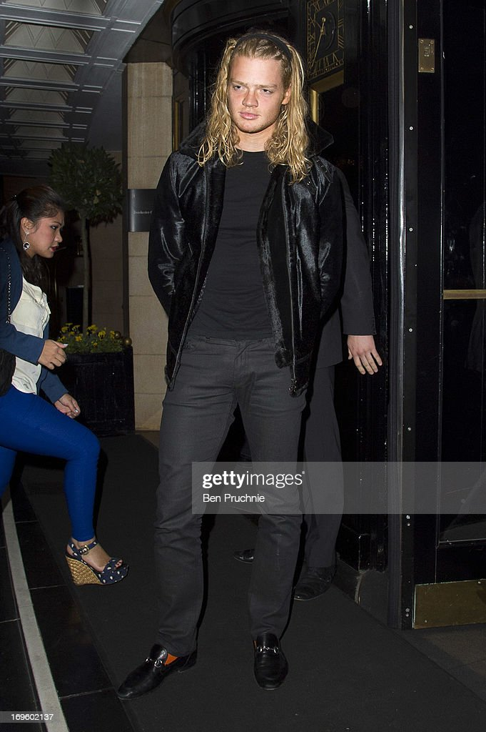 Fredrik Ferrier sighted arriving at The Dorchester Hotel on May 28, 2013 in London, England.