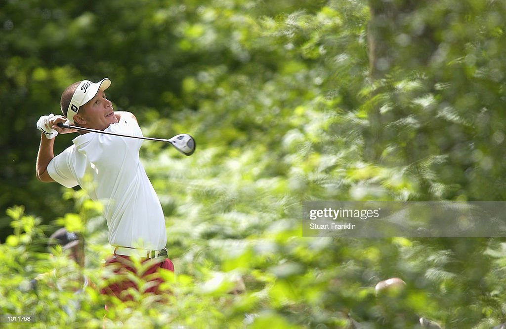 Fredrik Jacobson of Sweden in action during the Second Round of The Barclays Scottish Open held at the Loch Lomond GC, in Dumbarton, on July 12, 2002.