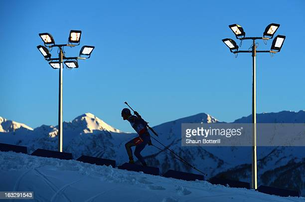 Fredrik Lindstrom of Sweden competes in the Men's 20km Individual Event during the E. ON IBU Biathlon World Cup at the 'Laura' Biathlon & Ski Complex...
