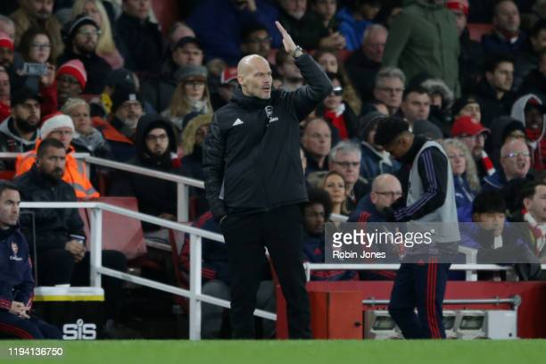Fredrik Ljungberg of Arsenal during the Premier League match between Arsenal FC and Manchester City at Emirates Stadium on December 15 2019 in London...