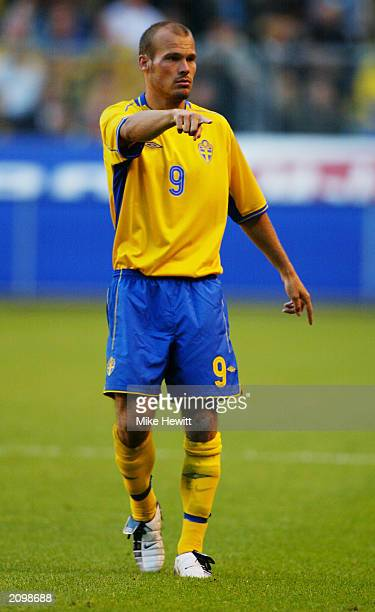 Fredrik Ljungberg of Sweden in action during the UEFA European Championships 2004 Group 4 Qualifying match between Sweden and Poland held on June 11...