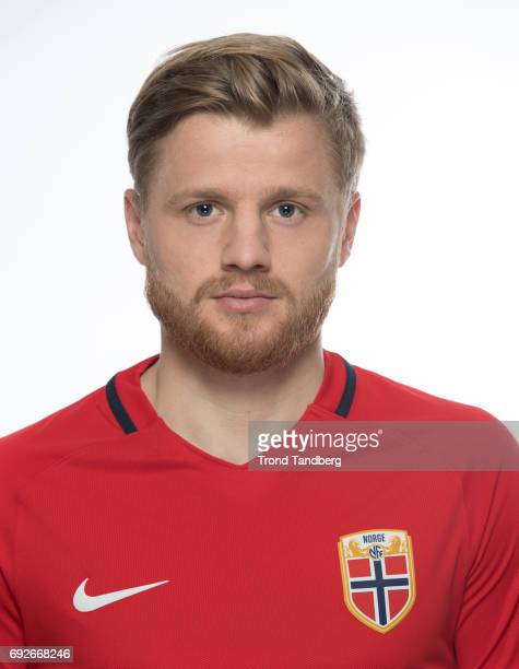 Fredrik Midtsjoe of Norway National Team during Photocall at Ullevaal Stadion on June 5 2017 in Oslo Norway
