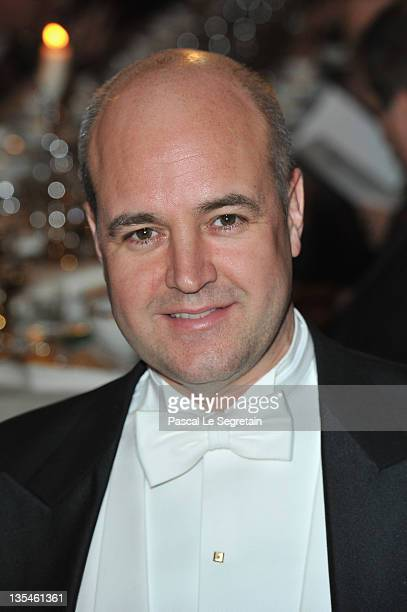 Fredrik Reinfeldt attends the Nobel Banquet at the City Hall on December 10 2011 in Stockholm Sweden