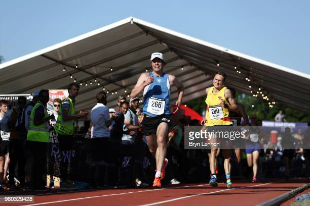 Fredrik Uhrbom and Jonathan Cornish Highgate Harriers Night of the 10000m PBs at Parliament Hill Athletics Track on May 19 2018 in London England