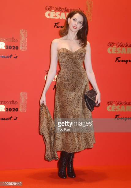 Fredrique Bel attends the Dinner At Le Fouquet's on February 29, 2020 in Paris, France.