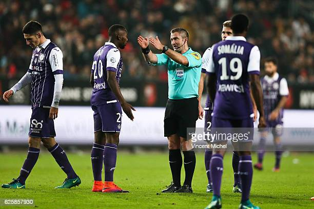 Fredy Fautrel, referee during the French Ligue 1 match between Rennes and Toulouse at Roazhon Park on November 25, 2016 in Rennes, France.