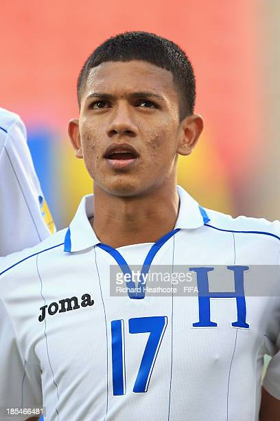 Fredy Medina of Honduras during the FIFA U17 World Cup UAE 2013 Group A match between Slovakia and Honduras at the Mohamed Bin Zayed Stadium on...