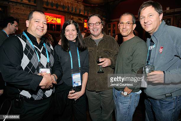 Fredy Pecerrelli director Pamela Yates producer Paco de Onis Doc Epstein and Abrahm Ludwig attend the Skoll Closing Dinner at the High West...