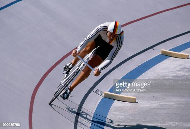 Fredy Schmidtke Men's Track cycling 1 km time trial competition Olympic Velodrome at the 1984 Summer Olympics July 30 1984