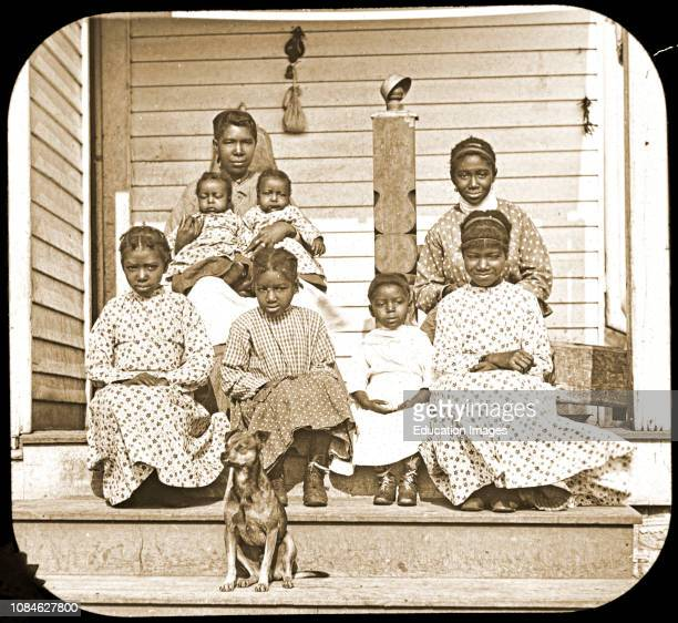 Free African-American Family, Post Civil War, c 1898, Vintage Photograph.