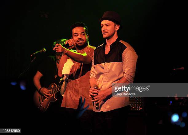 Free and 901 Tequila CEO and Founder Justin Timberlake and Executive Producer of Tennman/Interscope recording artist FreeSol perform onstage from...