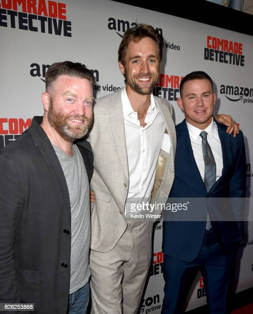 Free Association's Peter Kiernan Reid Carolin and Channing Tatum arrive at the premiere of Amazon's Comrade Detective at the Arclight Theatre on...