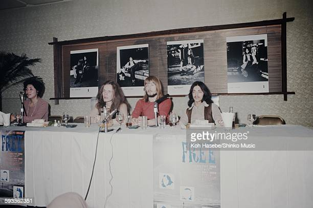 Free at press conference on their first visit to Japan without Paul Rodgersl Tokyo May 1971