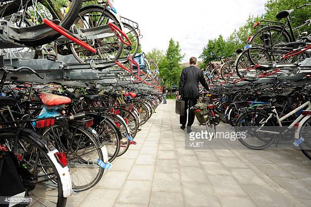 free bicycle parking in utrecht - utrecht stock pictures, royalty-free photos & images