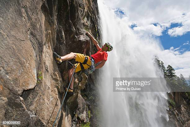Free climbing in Maltatal valley Carinthia