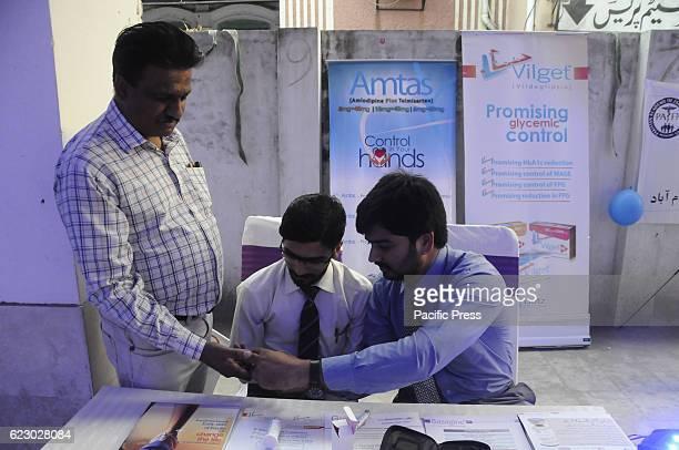 RAWALPINDI PAKISTAN RAWALPINDI PUNJAB PAKISTAN A free clinic during Diabetic awareness walk organized by Pioneer Academy and pharmaceutical companies...