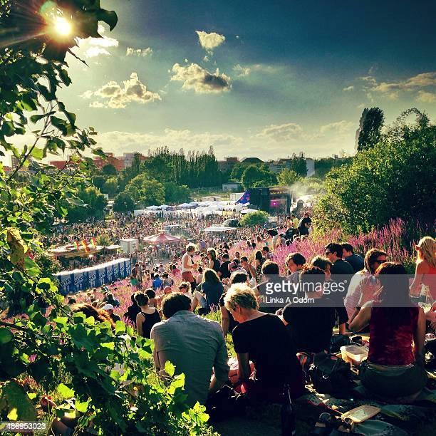 Free concert in Mauerpark Berlin