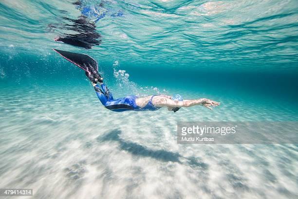 Plongée libre dans la mer