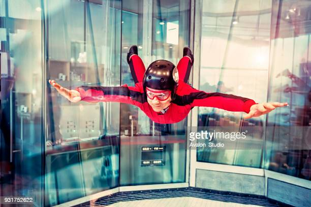 Free flight in the wind tunnel.
